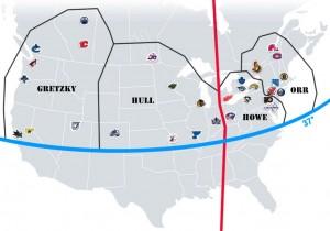 NHL Realignment Map - Week 3