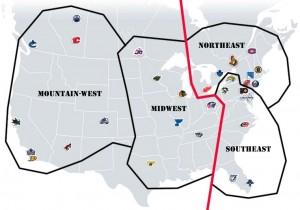 NHL Realignment Map - Week 5