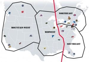 NHL Realignment Map - Week 6