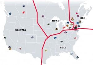 NHL Realignment Map - Week 8