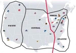 NHL Realignment Map Week 10