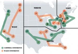 NHL Realignment Map Week Twelve