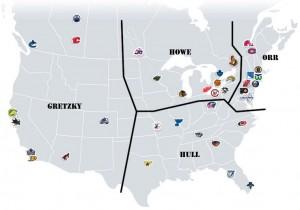 NHL Realignment Map - Week Thirteen