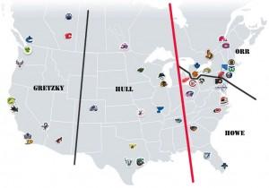 NHL Realignment Map - Week 14