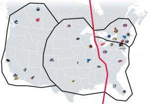 NHL Realignment Map - Week 9