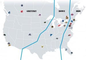 NHL Realignment Map - Week 15