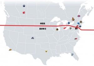 NHL Realignment Map - Week 17