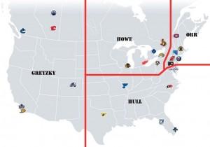 NHL Realignment Map - Week 18