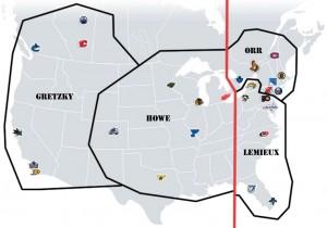 NHL Realignment Map - Week 19