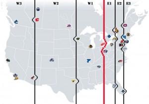 NHL Realignment Map - Week 20