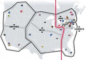 NHL Realignment Map Week 21