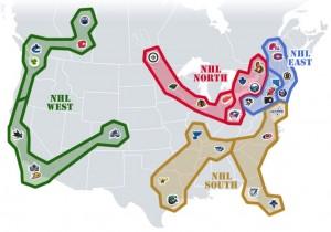 NHL Realignment Map - Week 31