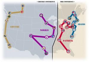 NHL Realignment Map - Week 37