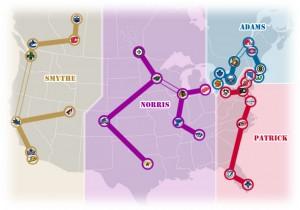 NHL Realignment Map - Week 38