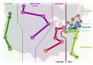 NHL Realignment Map - Week 39