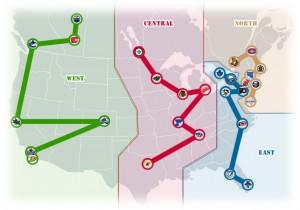 NHL Realignment Map - Week 42