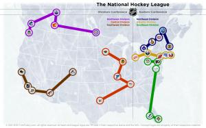 NHL Realignment Map - Week 45